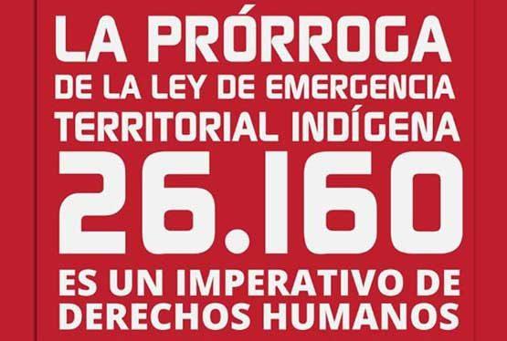 """El Gobierno promulgó hasta el 23 de noviembre de 2021 la prórroga de la ley 26.160 de Emergencia Territorial Indígena. La norma dispuso la extensión de las disposiciones de otra ley sancionada en 2006 y declara """"la emergencia en materia de posesión y propiedad de las tierras que tradicionalmente ocupan las comunidades indígenas originarias del […]"""