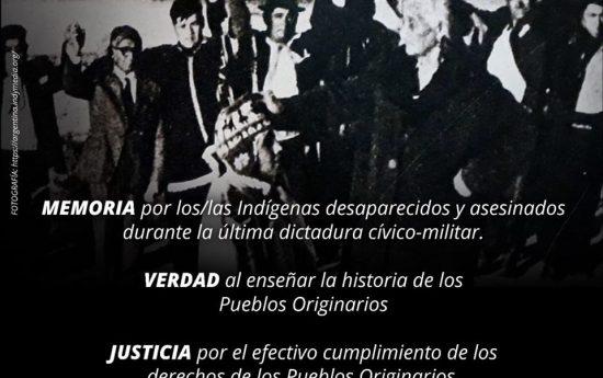 """Desde el 24 de marzo de 1976 al 10 de diciembre de 1983 la dictadura cívico-militar autodenominada """"Proceso de Reorganización Nacional"""", usurpó el gobierno argentino, época nefasta del terrorismo de Estado. Hoy, con dolor, recordamos a las víctimas de la que esperamos sea la última dictadura en Argentina. La Junta de Gobierno persiguió, torturó y […]"""